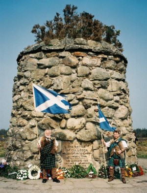 At the Battle of Culloden Memorial